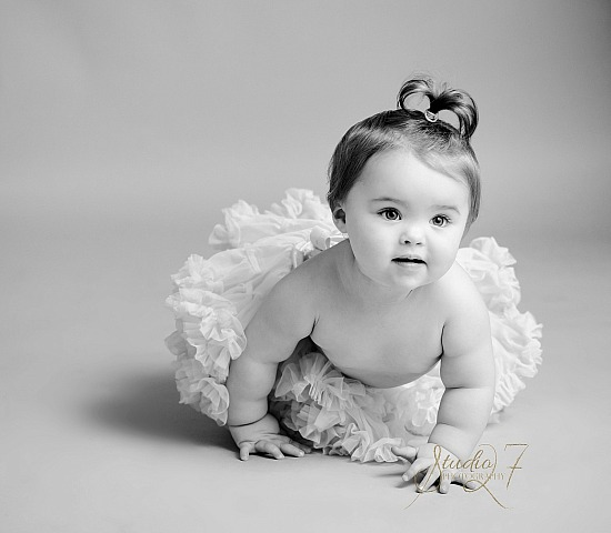 Black & White Baby Portrait Photography